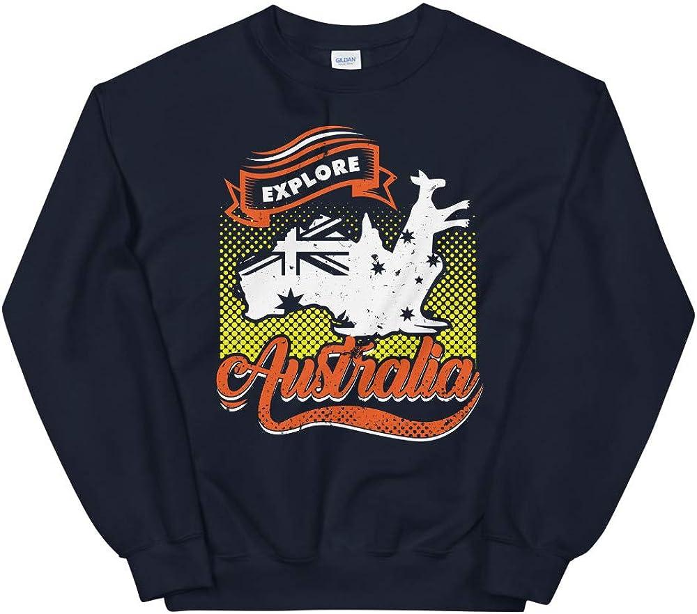 OrangePieces Australia Day Australian Flag Shirt Explore Australia Unisex Sweatshirt