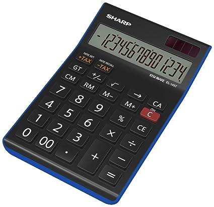 Sharp Electronics EL145TBL - Calculadora de mesa (14 cifras ...