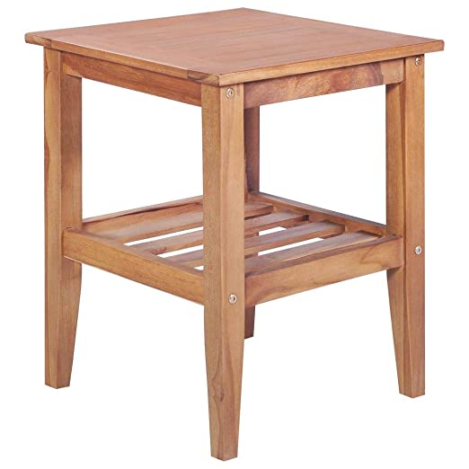 yorten Mesa de Centro Mueble de Teca para Jardín Patio o Sala de ...