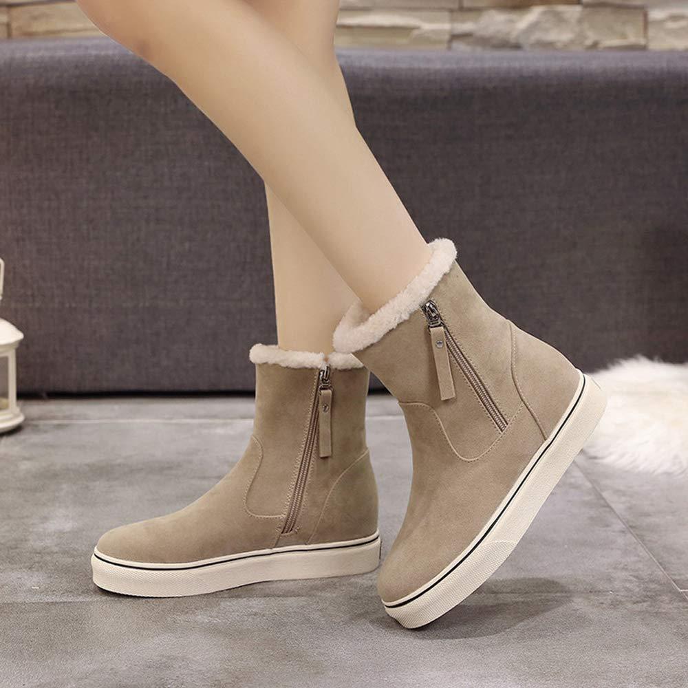 Viyor shop Womens Winter Snow Boots,High Top Anti-Slip Warm Sider Zipper Martin Boots