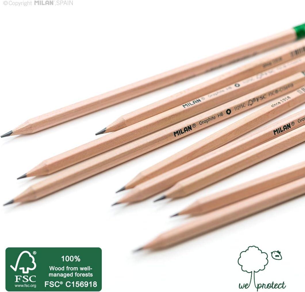 madera certificada FSC/® Caja 12 l/ápices de grafito HB hexagonales