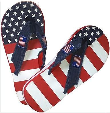 Hombres de la Bandera Americana Flip Flop Sandalias: Amazon.es: Zapatos y complementos
