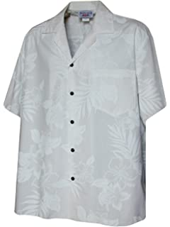 598f175c5280 Pacific Legend Plumeria Hibiscus-Hawaiian Shirts at Amazon Men's ...