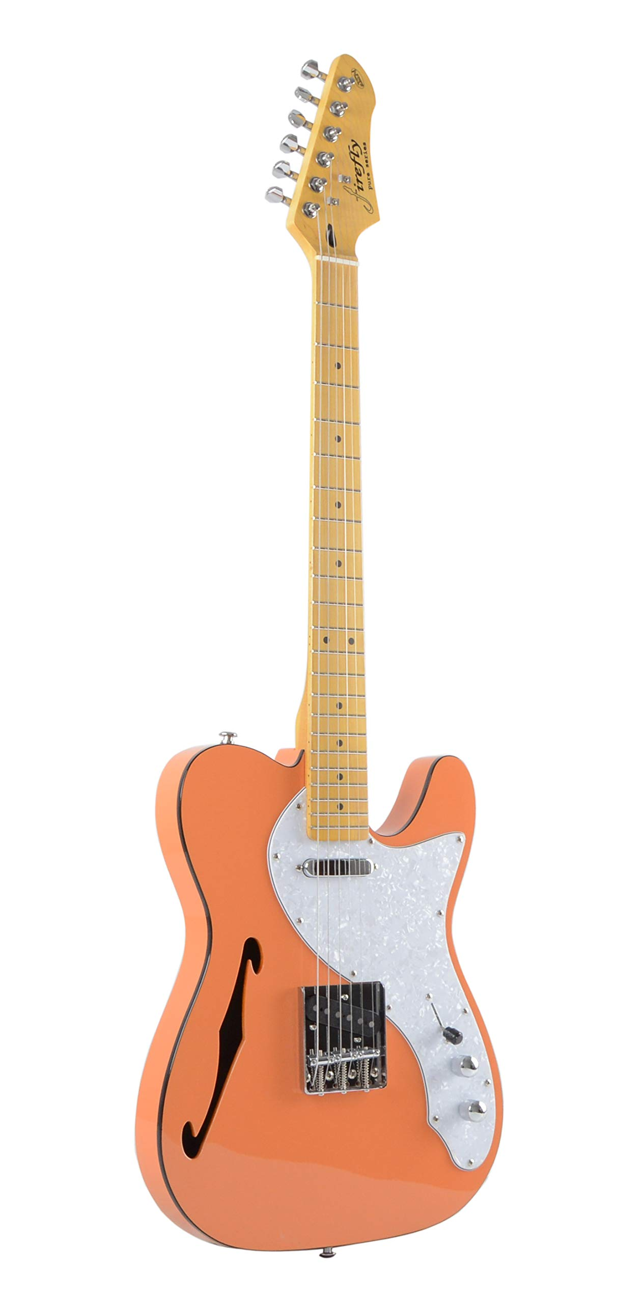 Firefly FFTH Semi-Hollow body Guitar (Orange). by Firefly