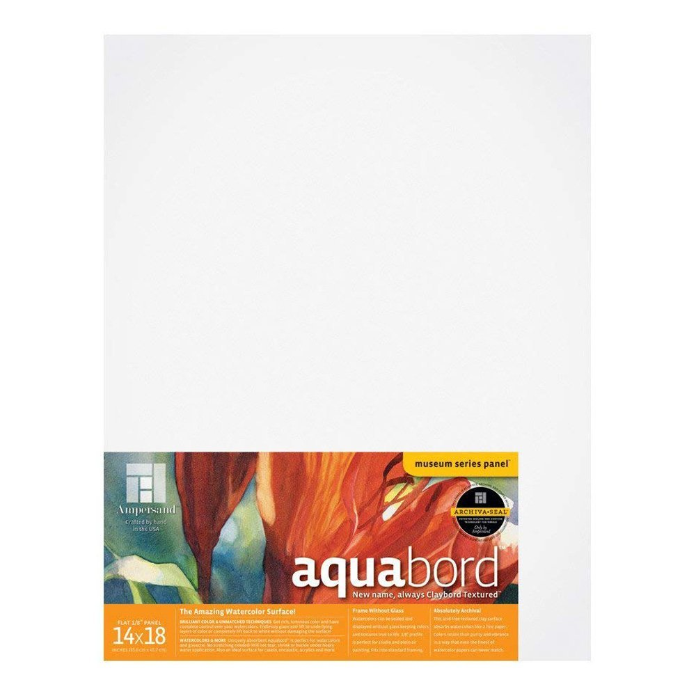 Ampersand Aquabord Panel for Watercolor and Gouache CBT18 18X24 Inch 1//8 Inch Depth