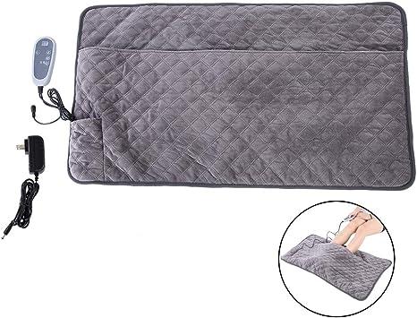 Cuscino riscaldante Tappetino riscaldante elettrico Cuscino riscaldato Doppia coperta Temperatura regolabile Caldo piede Vita Addome posteriore Sollievo Dolore del muscolo