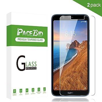 PaceBid [2 Pack Protector de Pantalla Xiaomi Redmi 7A, [Dureza 9H ...