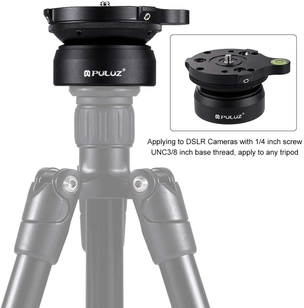 1//4 Inch Thread Dome Professional Tripod Leveling Head Base with Bubble Level Durable