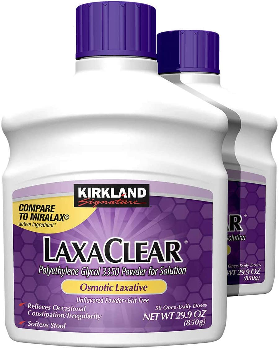 LaxaClear 50 Once-Daily Doses Net 29.9OZ (2)