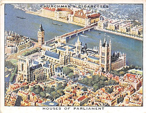Houses of Parliament 1939 Churchman Cigarettes Wings Over The Empire #2 (VG)