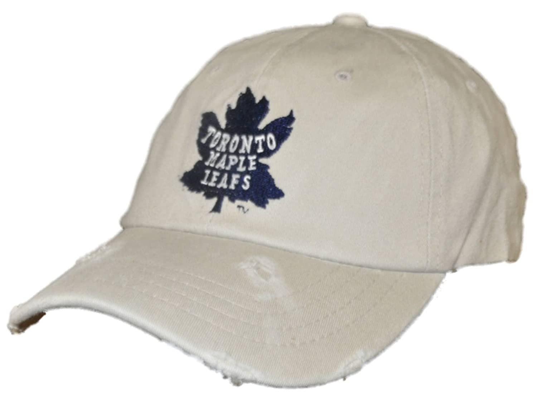 6d0a7567af Amazon.com   Retro Toronto Maple Leafs Brand Beige Worn Vintage Flexfit Hat  Cap (L XL)   Sports   Outdoors