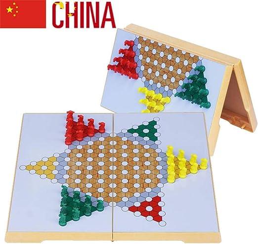 Damas Chinas Juego de Mesa Juego Damas Tablero - Juegos de Mesa de 6 años Juego de Tablero (Importado): Amazon.es: Hogar