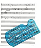 Song Writer's Composing Template for Music Notes & Symbols with Manuscript Staff Paper Tablet