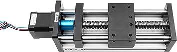 42 Stepper Motor is Included 100mm//3.93in 100mm 1204 Ball Screw Linear Guide Slide for DIY CNC Router Milling Machine Linear Motion Guide Rail CNC Slide Table Slide Stroke