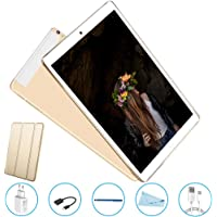 Tablet 10 offerte Android 7.0, Tablet in offerte 10 pollici 32 GB, 2 GB RAM,PC offerte Dual schede SIM V Mobile ,Quad Core,,Supporto chiamate 3G GPS/WIFI, OTG,Fotocamera 5 MP/2MP, Oro .