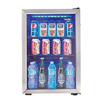 Danby DBC026A1BSSDB 95 Cans Beverage Cooler/ Refrigerator