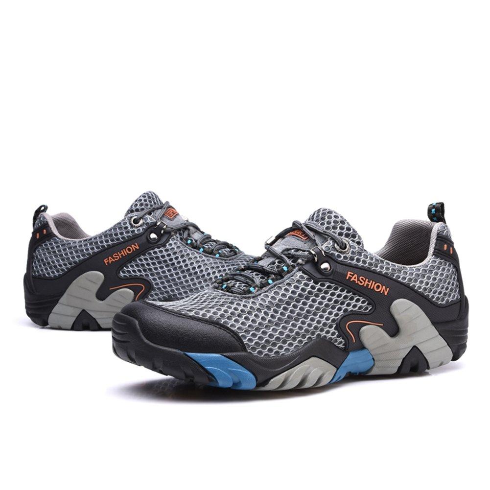 CraneLin Outdoor Hiking Shoes Walking Sneaker Boating Water & Trail Shoes for Men Women B0798MXLNG 10.5 D(M) US|Gray 01