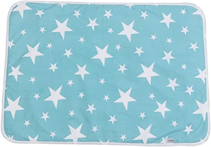 #2 110 x158cm Almohadillas Impermeables para beb/és Pa/ñal dibujos animados Pa/ñal que cambia la almohadilla Estera Ultra suave Algod/ón absorbente Almohadillas de orina Manta Lavable Protector de cama