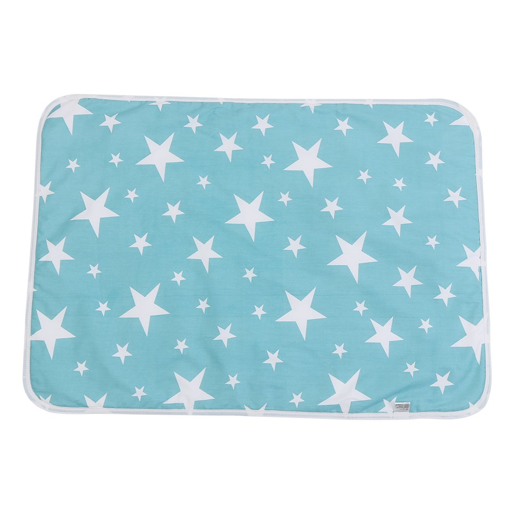 Zerodis Baby Crib Mattress Pad Infant Waterproof Cotton Urine Mat Cover Diapering Sheet Protector Reusable Incontinence Bed Pads Washable Incontinence Underpads (#B)