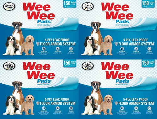 Four Paws 600pk Box 22x23 Wee Wee Pads by Four Paws