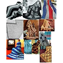 Vintage Knitting Afghan Patterns - 36 Homemade Knit Afghan Patterns - Baby Knit Afghan, French Poodles Afghan, Leaf Pattern Afghan and Many More