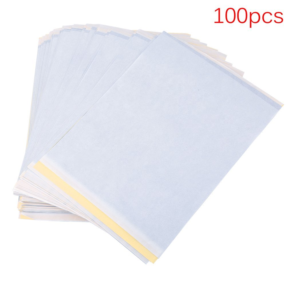 COMOTS 100 Sheets A4 Size Tattoo Carbon Thermal Tracing Copy Stencil Body Transfer Paper Copier Tattoo Accessory