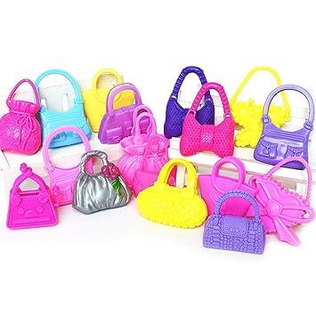Vococal - 10 Piezas Juguetes de Bolsas Bolsos para Barbie Muñecas / Accesorios de Muñeca de Regalo de Cumpleaños de Niñas,Color y Estilo al Azar