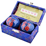 Feng Shui Baoding Chinese Health Exercize Stress Relief Balls 4.8cm(1.9'') + Free Red String Bracelet F1108