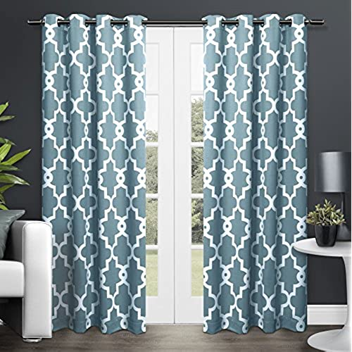 Greatest Teal and White Curtains: Amazon.com OI59