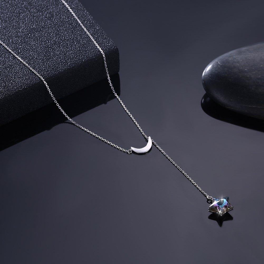 myazs8580 LEKANI Crystal Comes from The Swarovski Element Star Slip Necklace