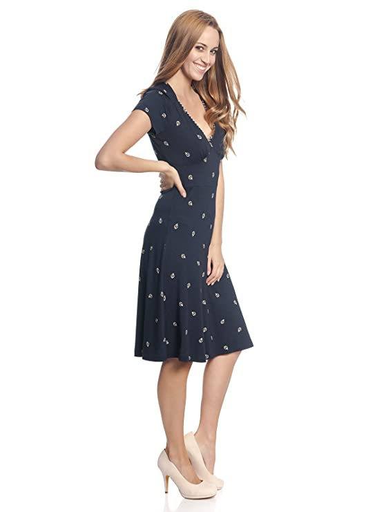Girl Maritim Anker Maria Damen Kleid DressAmazon Ahoi Vive Vintage 4A3L5Rcjq
