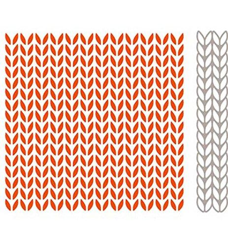 Marianne Design Embossing Folder Cutting Die Knitting Df3418