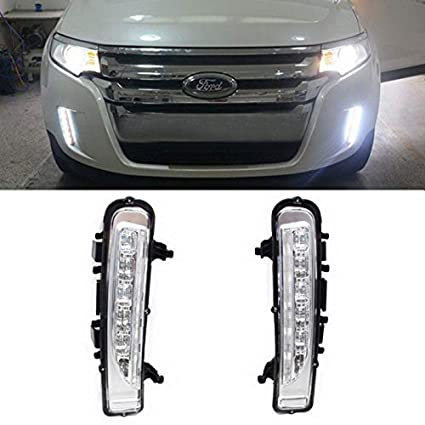 Ijdmtoy Switchback Led Daytime Running Lights For   Ford Edge W Turn Signal Lights Oem Fit Lower Bumper Lamp Assy Powered By  Xenon White Led As
