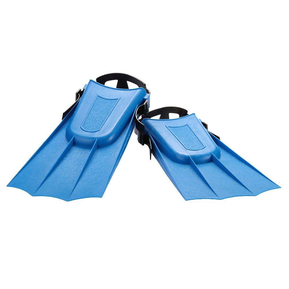 Beautyrain Ni/ños Diving Fins Nataci/ón Caza Snorkel Aletas bajo el Agua Monofin Entrenamiento Child Flipper ABS para Ni/ños Ajustable Suave Corto