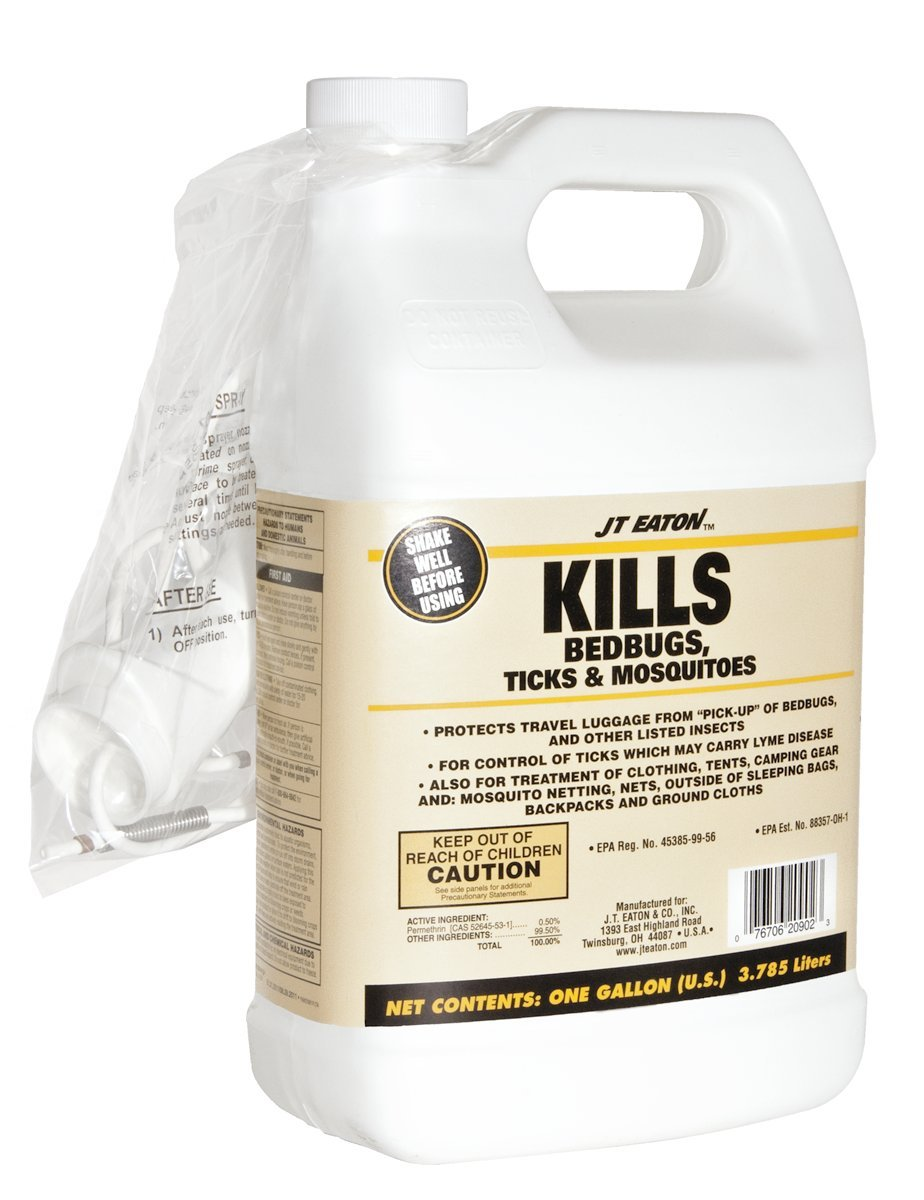 JT Eaton 209-W1GP Bedbugs Ticks and Mosquito Spray with Sprayer Attachment, 1-Gallon