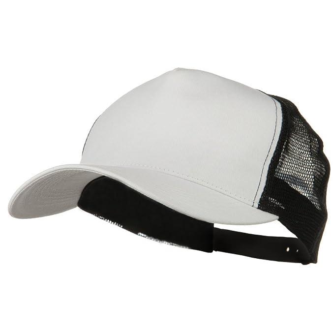 New Big Size Trucker Mesh Cap - White Black (for Big Head) at Amazon Men s  Clothing store  Baseball Caps fc939662e5a