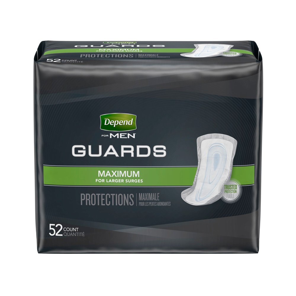 【男性用尿モレパッド】Depend® Guards for Men - 52枚入り B004OQP3O4