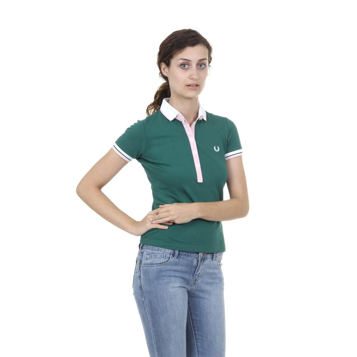 Fred Perry Fred Perry Womens Polo 31162179 0031 VERDE: Amazon.es ...