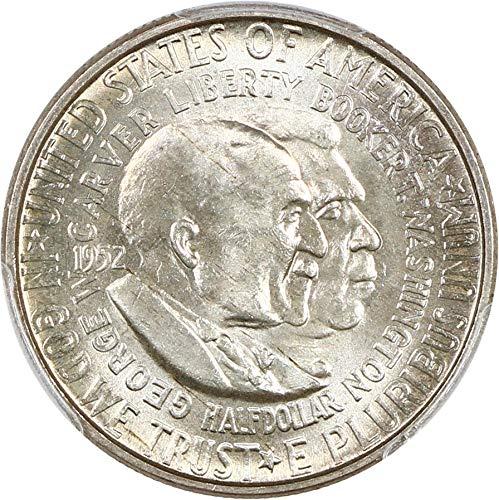 1952 D Silver Commemoratives Washington-Carver Half Dollar MS65 PCGS ()