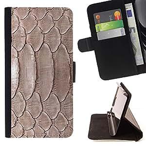 Momo Phone Case / Flip Funda de Cuero Case Cover - Naturaleza Reptil Piel Serpiente Marrón Wallpaper - HTC Desire 820