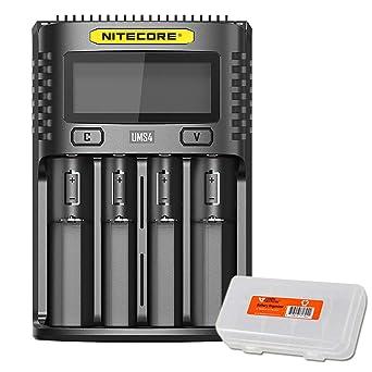 Amazon.com: NITECORE UMS4 - Cargador de batería inteligente ...