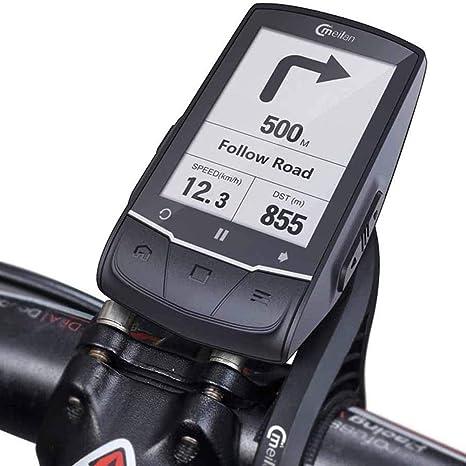 XIEXJ Bici De La Computadora, El GPS De Navegación Moto Cycling Computer Ordenador Bluetooth Impermeable Conectar con Cadence: Amazon.es: Deportes y aire libre