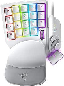 Razer Tartarus Pro Gaming Keypad: Analog-Optical Key Switches - 32 Programmable Keys - Customizable Chroma RGB Lighting - Programmable Macros - Variable Key Press Pressure Sensitivity - Mercury White