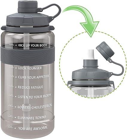 1 Gallon Water Bottle Motivational With Timer Maker BPA Free Jug Sport Fitness