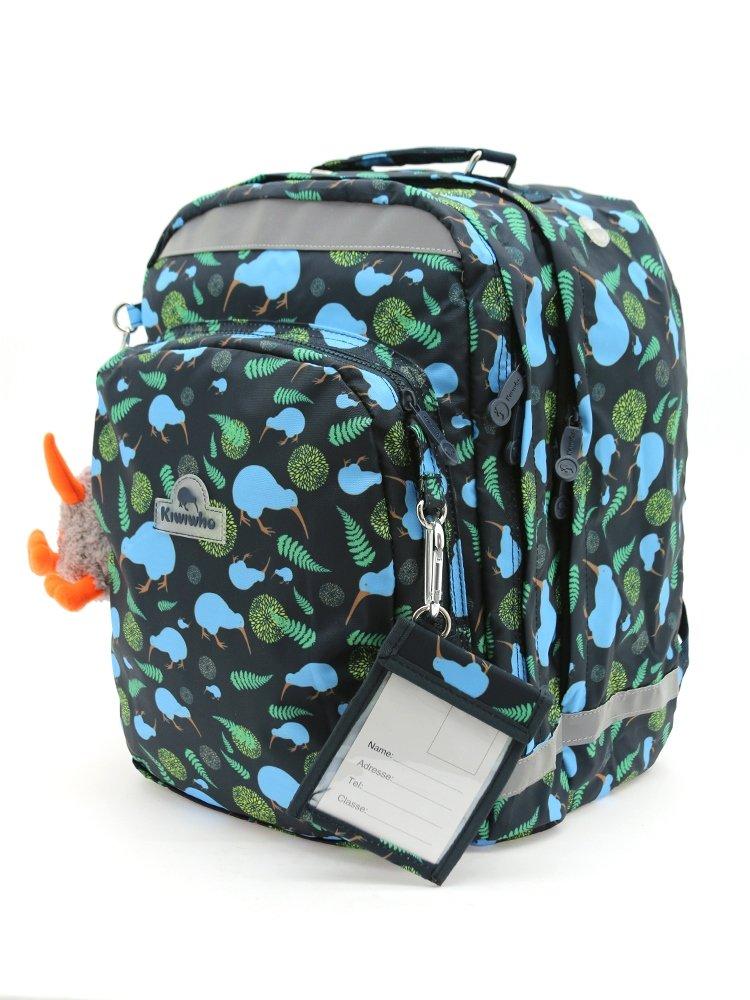 Kiwiwho sac /à dos grand mod/èle avec motif marron 30x40x30cm