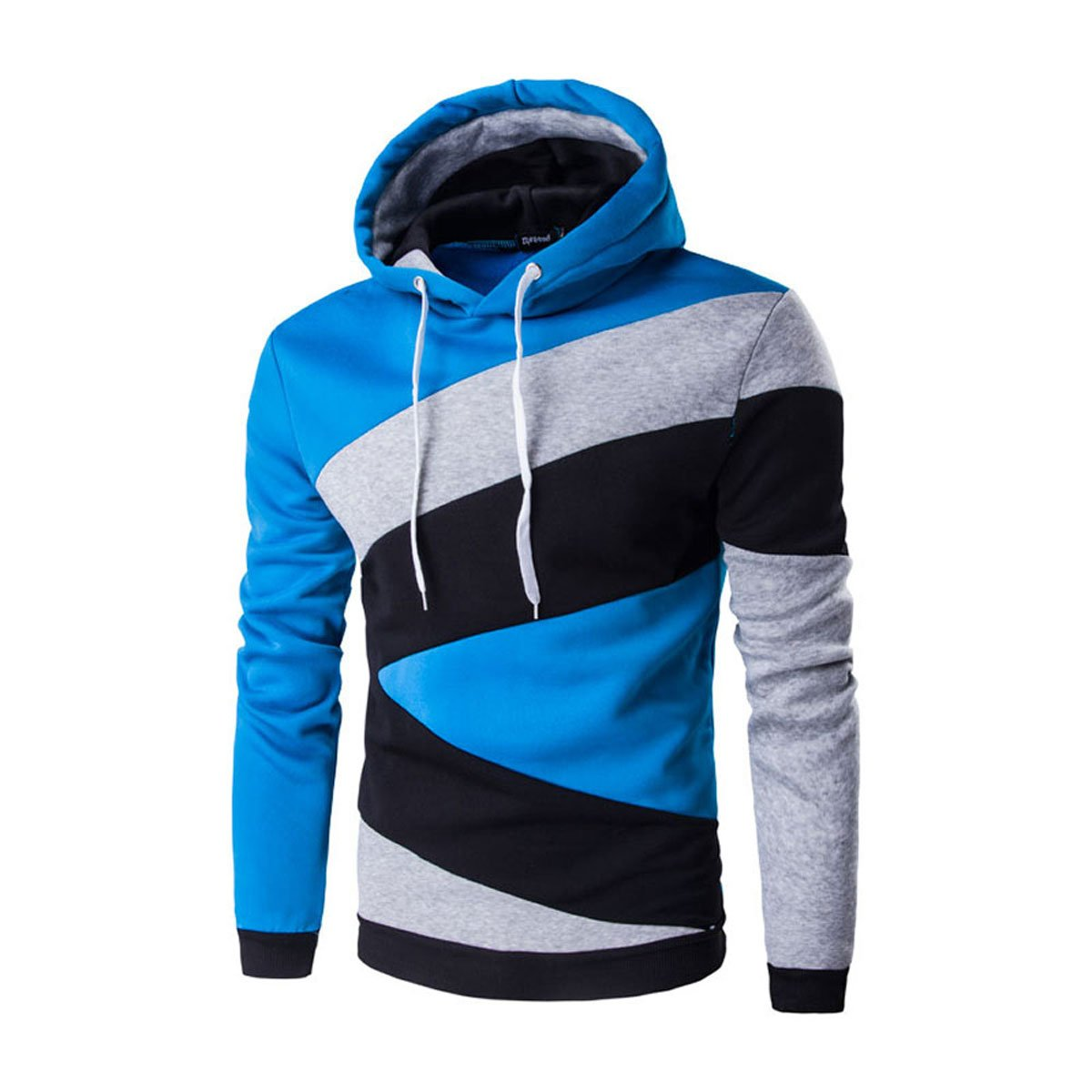 ZYFGfree 2017 Autumn Winter Fashion Male Stitching Color Long Sleeve Hoodies Sweatershirt