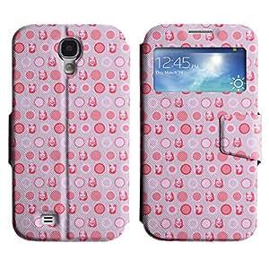 LEOCASE círculos lindos Funda Carcasa Cuero Tapa Case Para Samsung Galaxy S4 I9500 No.1004713