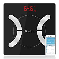 Bluetooth Body Fat Scale with IOS and Android App Smart Wireless Digital Bathroom Scale for Body weight, Body Fat, Water, Muscle Mass, BMI, BMR, Bone Mass and Visceral Fat