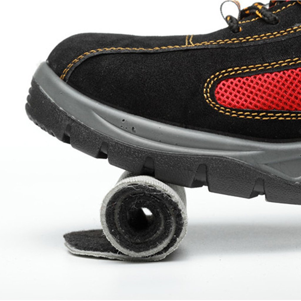 c97505cc30ef75 Homyl Chaussures Sécurité Travail Hommes Femmes Embout en Acier Anti-Choc  Rouge: Amazon.fr: Sports et Loisirs