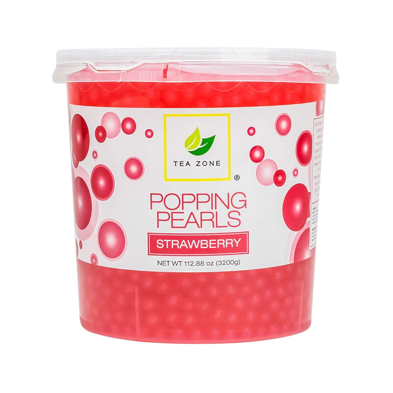 Tea Zone Apex Popping Pearls Jar, Strawberry, 7 lb. by TEA ZONE